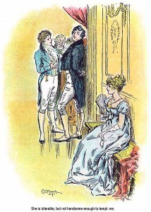 C. E. Brock illustration for the 1895 edition of Jane Austen's novel Pride and Prejudice (Chapter 3)